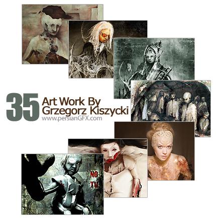 مجموعه آثار هنری، نقاشی مفهومی و مدرن - Art Work ByGrzegorz Kiszycki