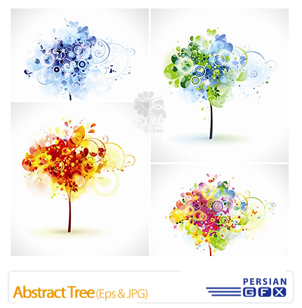 دانلود وکتور درخت انتزاعی - Abstract Tree