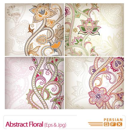 دانلود وکتور بک گراند گل دار انتزاعی - Abstract Floral