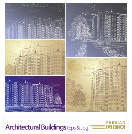 دانلود وکتور معماری - Architectural Buildings