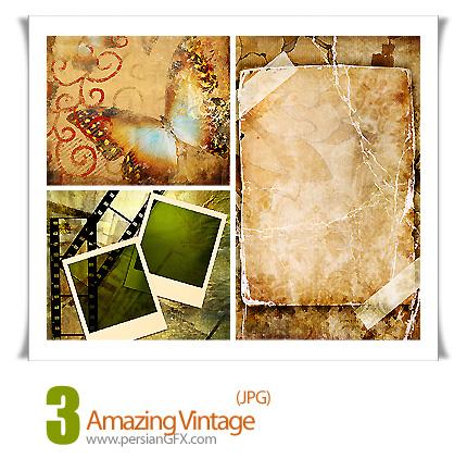 دانلود تصاویر فریم با بافت کثیف - Amazing Vintage