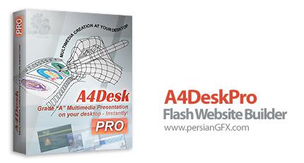 دانلود نرم افزار طراحی آسان وب سایت های فلش - A4DeskPro Flash Website Builder 5.80