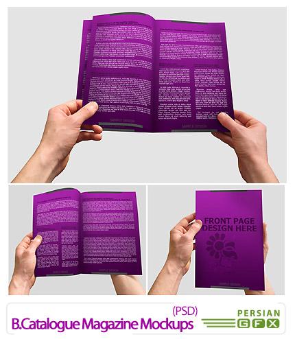 دانلود پیش نمایش کاتالوگ و بروشور - B.Catalogue Magazine Mockups