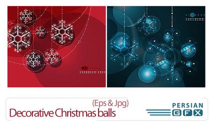 دانلود تصاویر توپ تزئینی کریسمس - Decorative Christmas balls