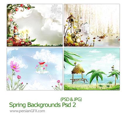 دانلود تصاویر لایه باز پس زمینه بهار - Spring Backgrounds PSD 02