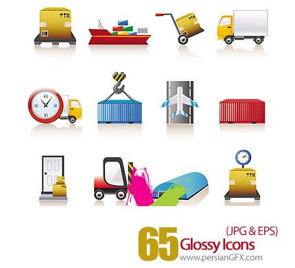 دانلود آیکون های متنوع براق - Glossy Icons