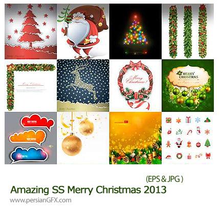 دانلود تصاویر وکتور تقویم کریسمس - Amazing SS Merry Christmas 2013