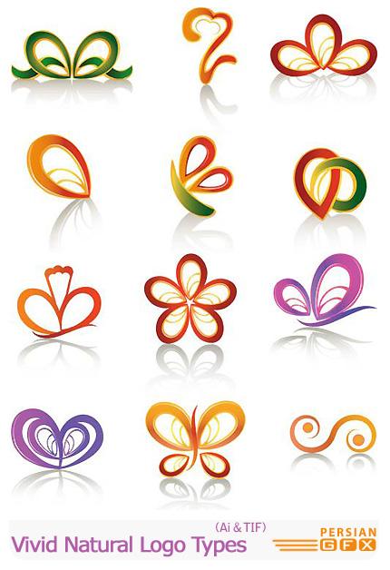 دانلود تصاویر لوگوهای رمانتیک - Vectors Vivid Natural LogoTypes