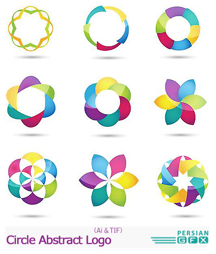 دانلود تصاویر لوگوهای دایره ای انتزاعی - Circle Abstract Logo