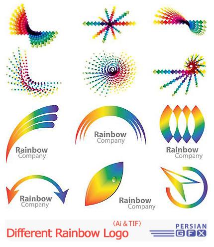 دانلود تصاویر لوگوهای متنوع رنگین کمان - Different Rainbow Logo