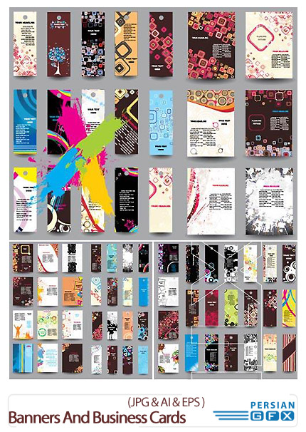 دانلود تصاویر کارت ویزیت و بنرهای تبلیغاتی - Big Collection Of Banners And Business Cards