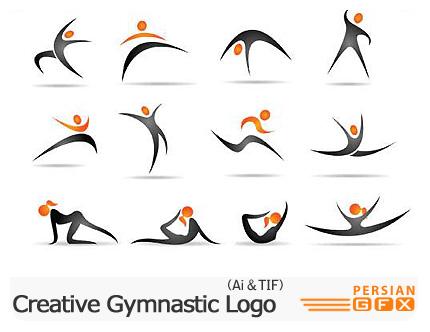 دانلود تصاویر لوگوهای ژیمیناستیک - Creative Gymnastic Logo