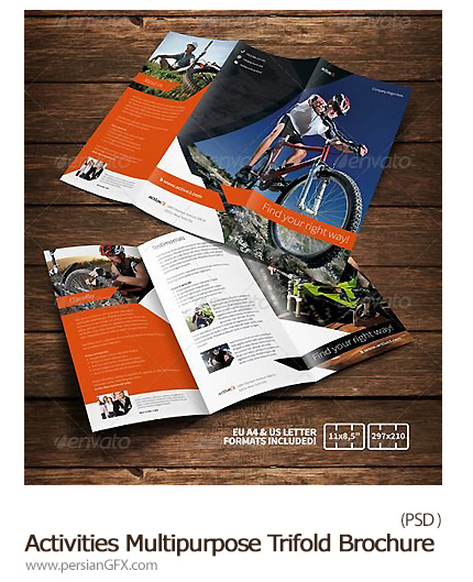دانلود تصاویر لایه باز بروشور های تبلیغاتی گرافیک ریور - GraphicRiver Activities Multipurpose Trifold Brochure