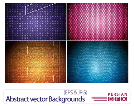 دانلود تصاویر وکتور انتزاعی متنوع - Abstract vector Backgrounds