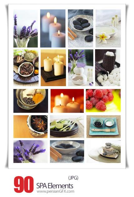 دانلود تصاویر با کیفیت عناصر طبیعی و مشتقات گیاهی - Veer Fancy SPA Elements