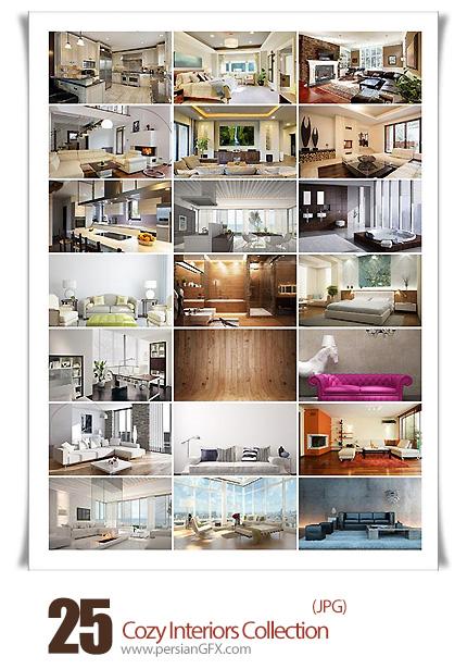 دانلود تصاویر با کیفیت دکوراسیون داخلی لوکس، اتاق خواب، پذیرایی، حمام و دستشویی  - Cozy Interiors Collection