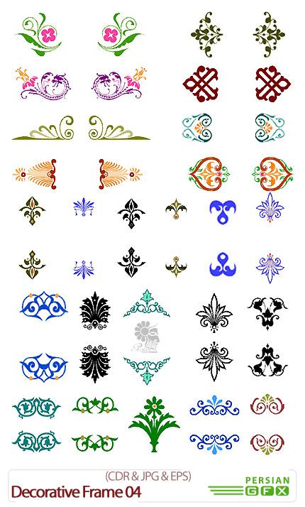 دانلود تصاویر کورل حاشیه های تزئینی گلدار - Decorative Frame 04