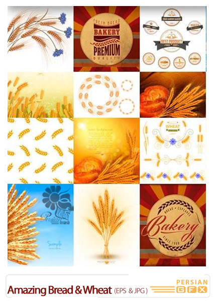 دانلود تصاویر وکتور نان و گندم از شاتر استوک - Amazing ...دانلود تصاویر وکتور نان و گندم از شاتر استوک - Amazing ShutterStock Bread & Wheat