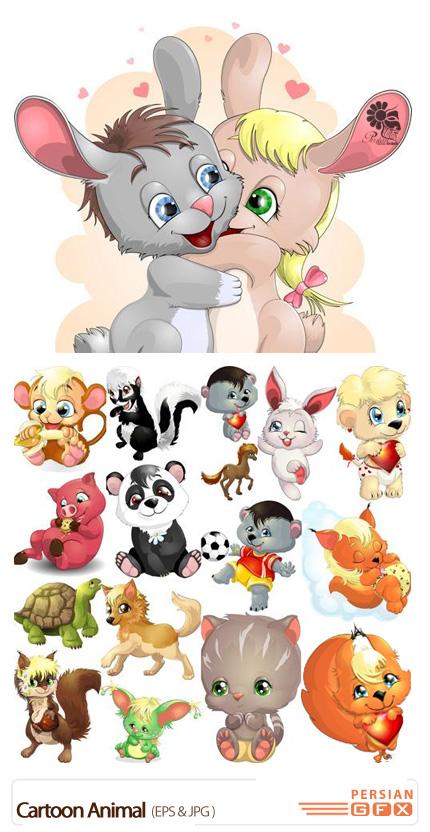 دانلود تصاویر وکتور حیوانات کارتونی - Cartoon Animal