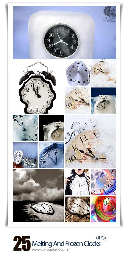 دانلود تصاویر با کیفیت ساعت ذوب شده و منجمد شده - Melting And Frozen Clocks