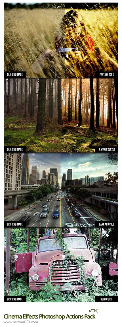 دانلود اکشن افکت های متنوع سینمایی - WeGraphics Cinema Effects Photoshop Actions Pack