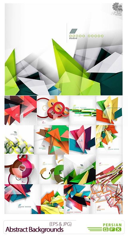 دانلود تصاویر وکتور پس زمینه های انتزاعی - Abstract Backgrounds