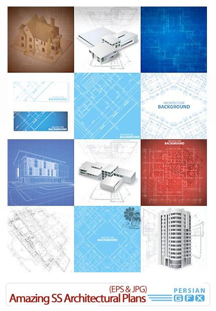 دانلود تصاویر وکتور نقشه های معماری از شاتر استوک - Amazing ShutterStock Architectural Plans