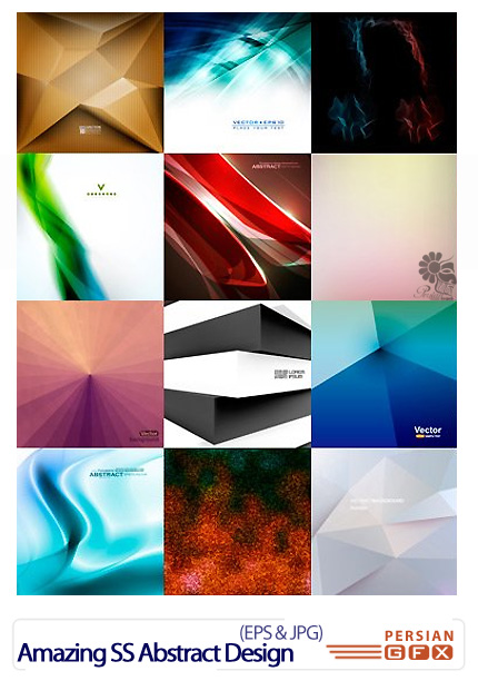 دانلود تصاویر وکتور پس زمینه های انتزاعی از شاتر استوک - Amazing ShutterStock Abstract Design