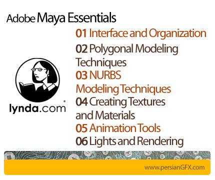 دانلود 6 دوره آموزش مایا، نرم افزار طراحی مدل های سه بعدی و تولید انیمیشن از لیندا - Lynda Maya Essentials 1,2,3,4,5,6