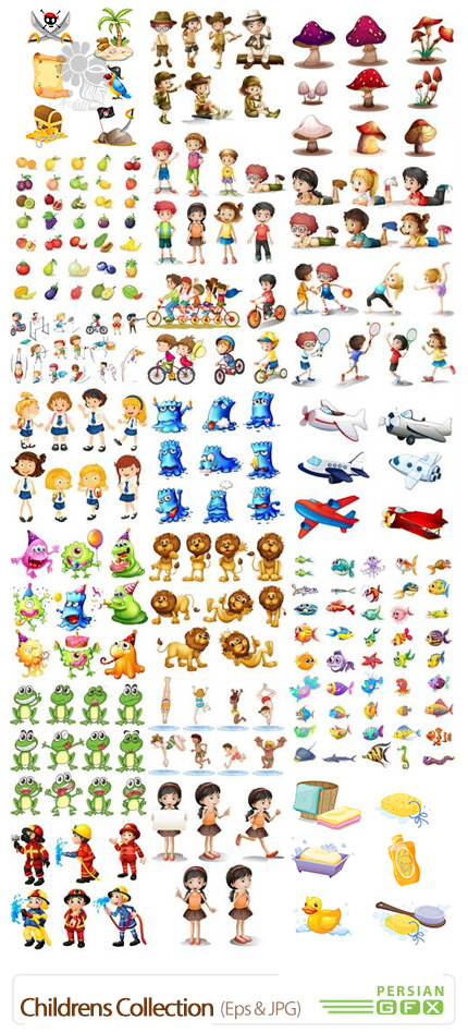 دانلود تصاویر کارتونی کودکان، حیوانات، عروسک و ... - Childrens Collection