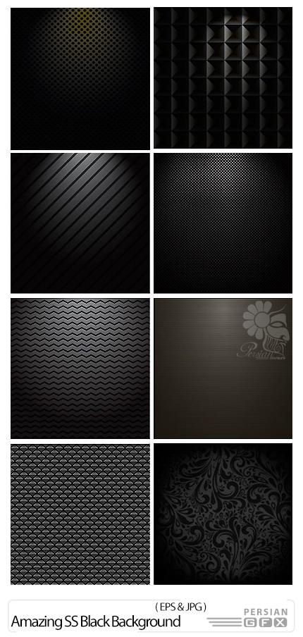 دانلود تصاویر وکتور پس زمینه های تیره از شاتر استوک - Amazing ShutterStock Black Background