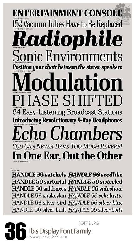 دانلود فونت انگلیسی متنوع - Ibis Display Font Family