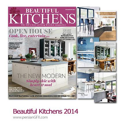 دانلود مجله دکوراسیون داخلی آشپزخانه - Beautiful Kitchens 2014