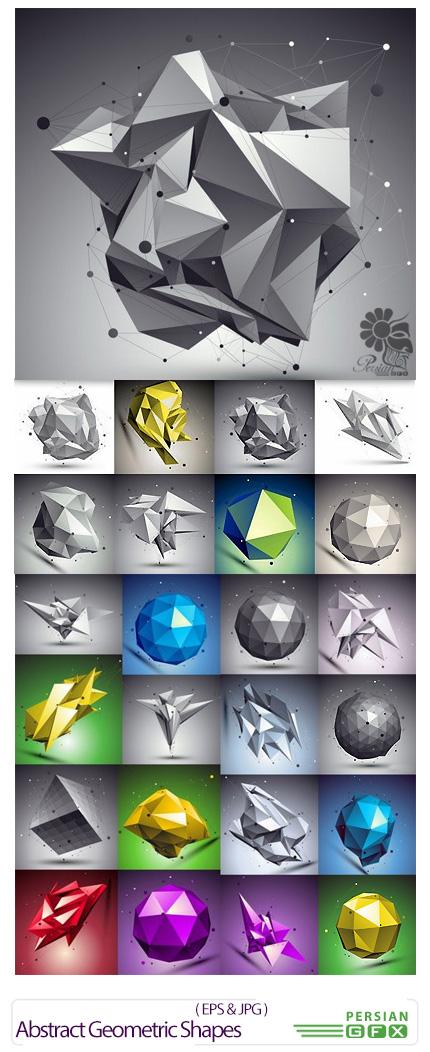 دانلود تصاویر وکتور اشکال هندسی انتزاعی - Abstract Geometric Shapes