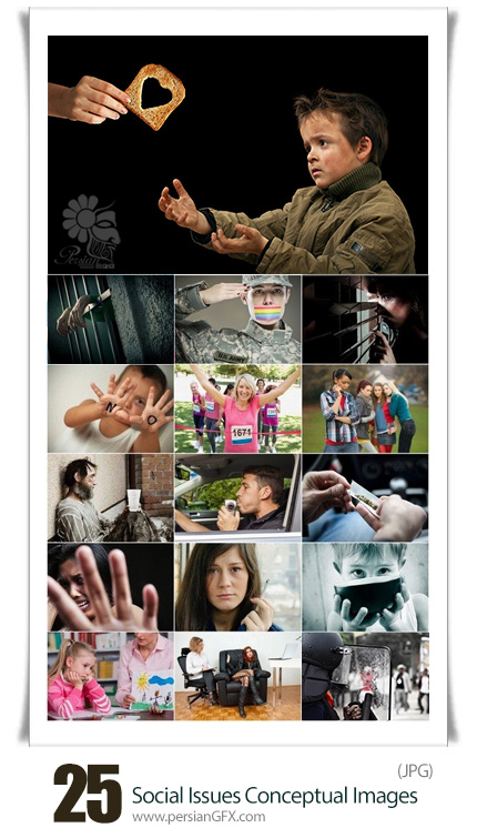 دانلود تصاویر با کیفیت مشکلات اجتماعی مخرب - Social Issues Conceptual Images From Stock