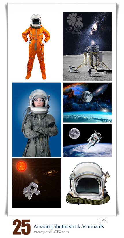 دانلود تصاویر با کیفیت فضانوردان از شاتر استوک - Amazing Shutterstock Astronauts