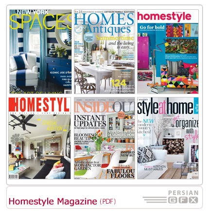 دانلود مجله دکوراسیون داخلی خانه، حمام و دستشویی، گلخانه، پذیرایی، اتاق خواب - Homestyle Magazine