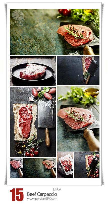 دانلود تصاویر با کیفیت گوشت گاو خام یا نپخته - Beef Carpaccio