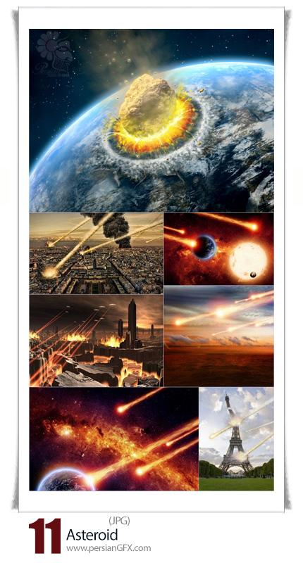 دانلود تصاویر با کیفیت جنگ فضایی، شهاب سنگ - Asteroid