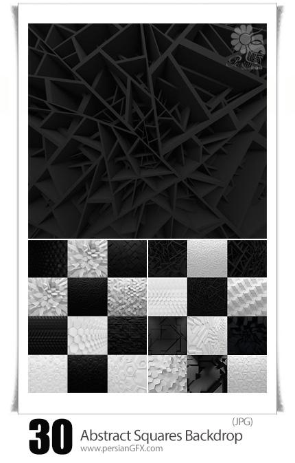 دانلود تصاویر با کیفیت پس زمینه اشکال انتزاعی سه بعدی - Abstract Squares Backdrop