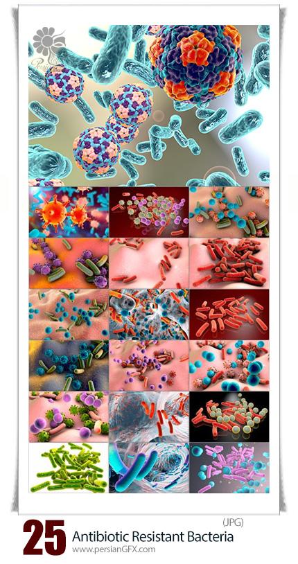 دانلود تصاویر با کیفیت باکتری های مقاوم به آنتی بیوتیک، باکتری، مولکول قرمز، آنتی بیوتیک و ... - Biofilm Of Antibiotic Resistant Bacteria