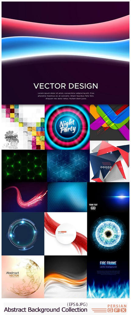 دانلود تصاویر وکتور پس زمینه با طرح های انتزاعی - Abstract Background Collection