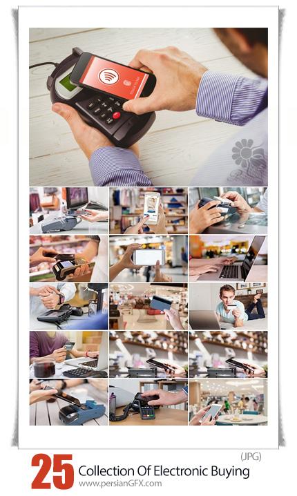 دانلود تصاویر با کیفیت خرید الکترونیکی با کارت اعتباری و دستگاه کارت خوان - Collection Of Electronic Buying Plastic Card Electronic Payment