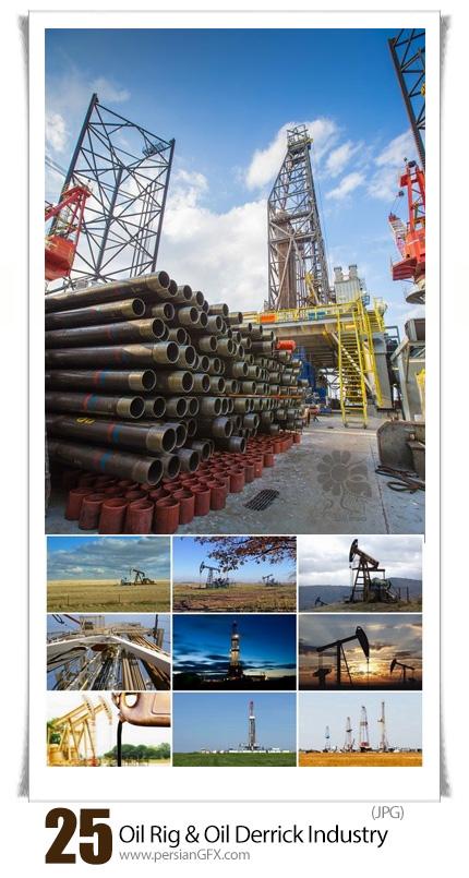 دانلود مجموعه تصاویر باکیفیت صنایع نفتی، پالایشگاه، پتروشیمی، دکل نفت و ... - Backwaters On Oil Rig And Oil Derrick Industry