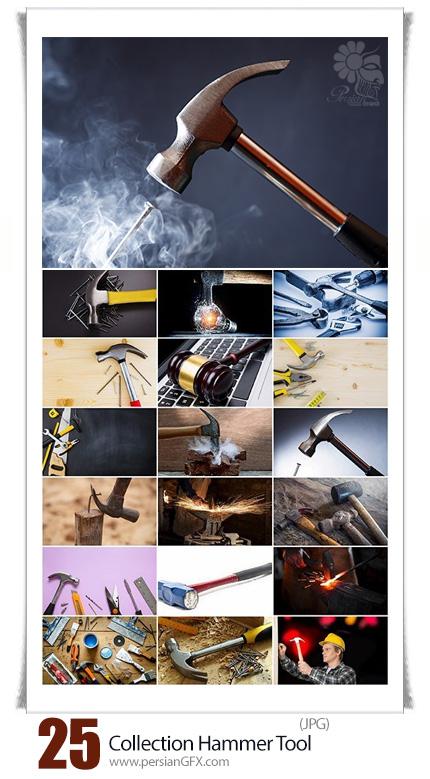 دانلود تصاویر با کیفیت میخ و چکش - Collection Hammer Tool