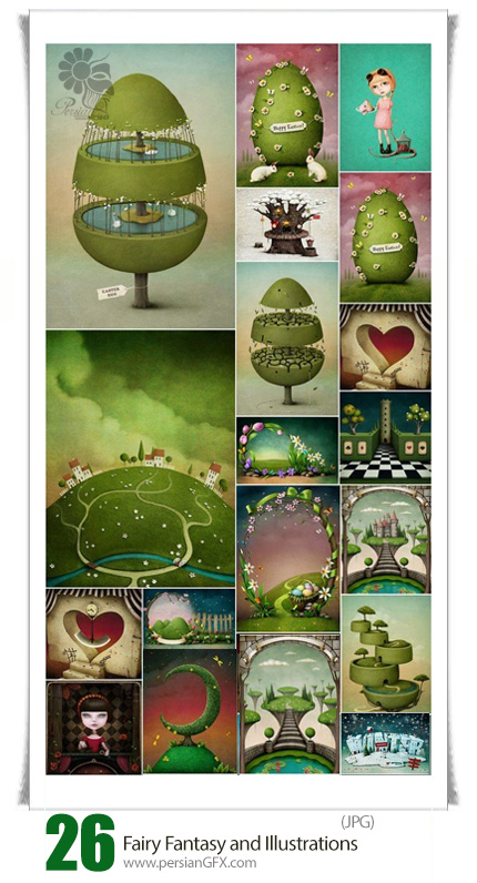 دانلود تصاویر با کیفیت کارتونی فانتزی - Fairy Fantasy And Illustrations