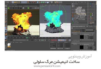 دانلود آموزش سینمافوردی و ریل فلو ساخت انیمیشن مرگ سلولی  - Pluralsight Cellular Death Animation Using RealFlow And Cinema 4D