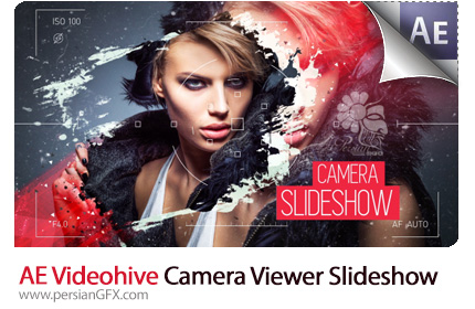 دانلود پروژه آماده افترافکت اسلاید شو با افکت صفحه نمایش دوربین از ویدئوهایو - Videohive Camera Viewer Slideshow After Effects Templates
