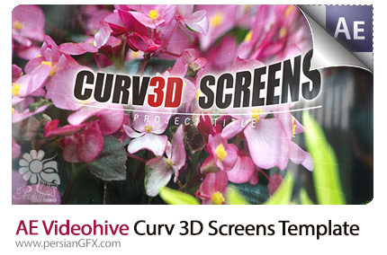 دانلود پروژه آماده افترافکت نمایش تصاویر با افکت تورفتگی سه بعدی از ویدئوهایو - Videohive Curv 3D Screens After Effects Templates