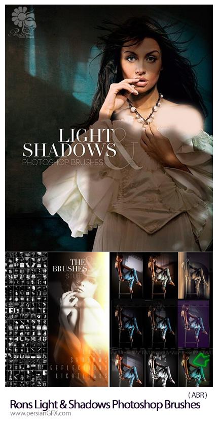 دانلود براش فتوشاپ نور و سایه - Rons Light And Shadows Photoshop Brushes